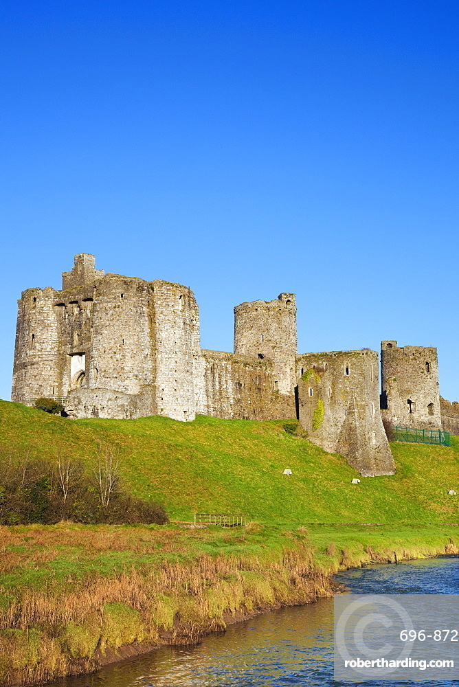 Kidwelly Castle, Carmarthenshire, Wales, United Kingdom, Europe
