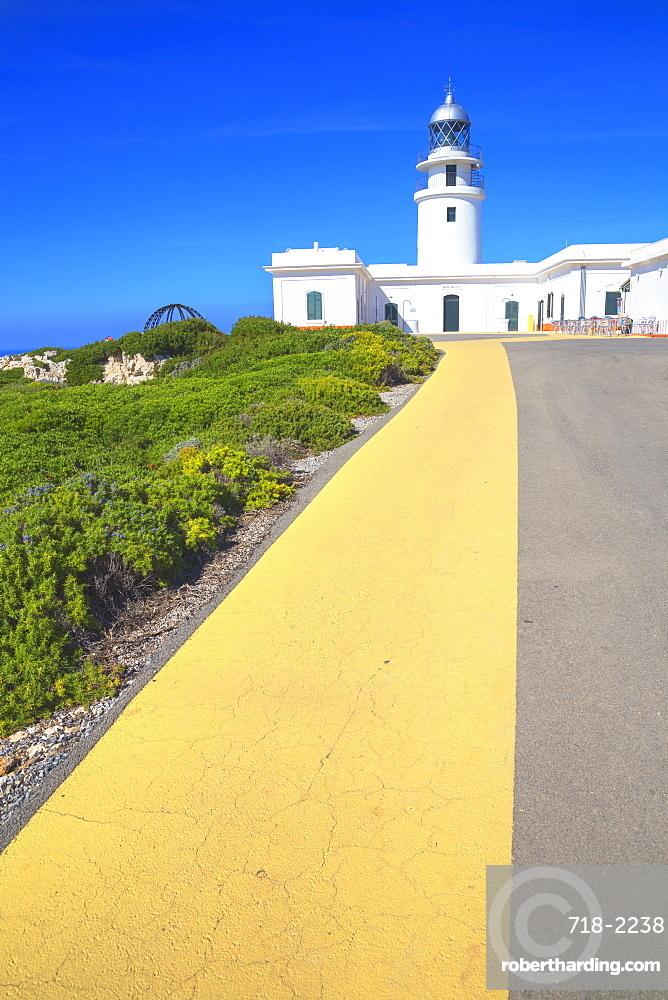 The lighthouse at Cap de Cavalleria, Menorca, Balearic Islands, Spain, Mediterranean, Europe