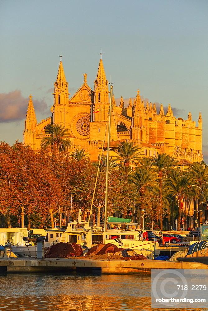 La Seu Cathedral, Palma de Mallorca, Mallorca (Majorca), Balearic Islands, Spain, Mediterranean, Europe