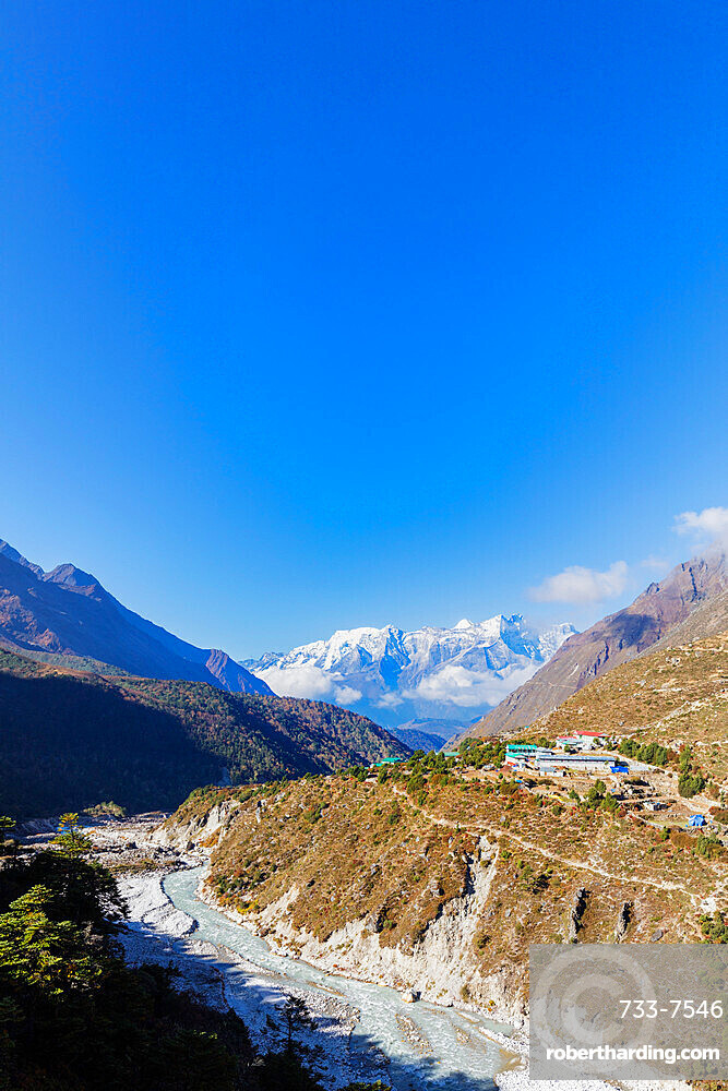 Village of Pangboche, 4000m, Sagarmatha National Park, UNESCO World Heritage Site, Khumbu Valley, Nepal, Himalayas, Asia