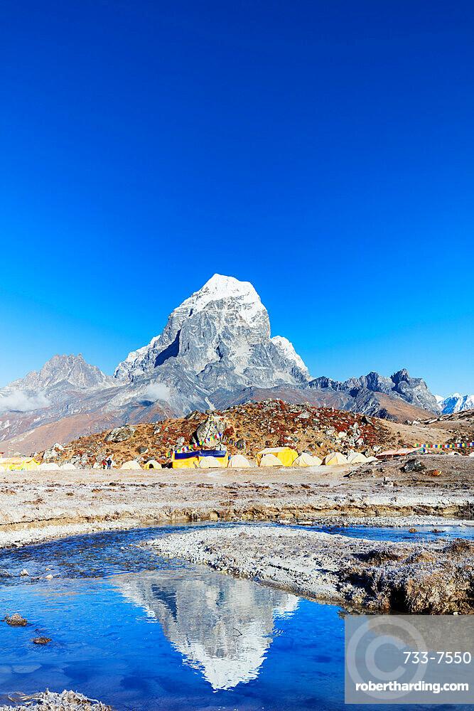 Ama Dablam base camp with Tobuche, 6495m, Sagarmatha National Park, UNESCO World Heritage Site, Khumbu Valley, Nepal, Himalayas, Asia