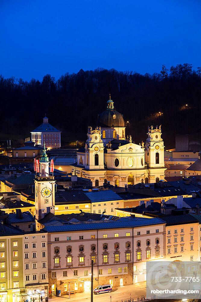 Old town church, Salzburg, Austria, Europe