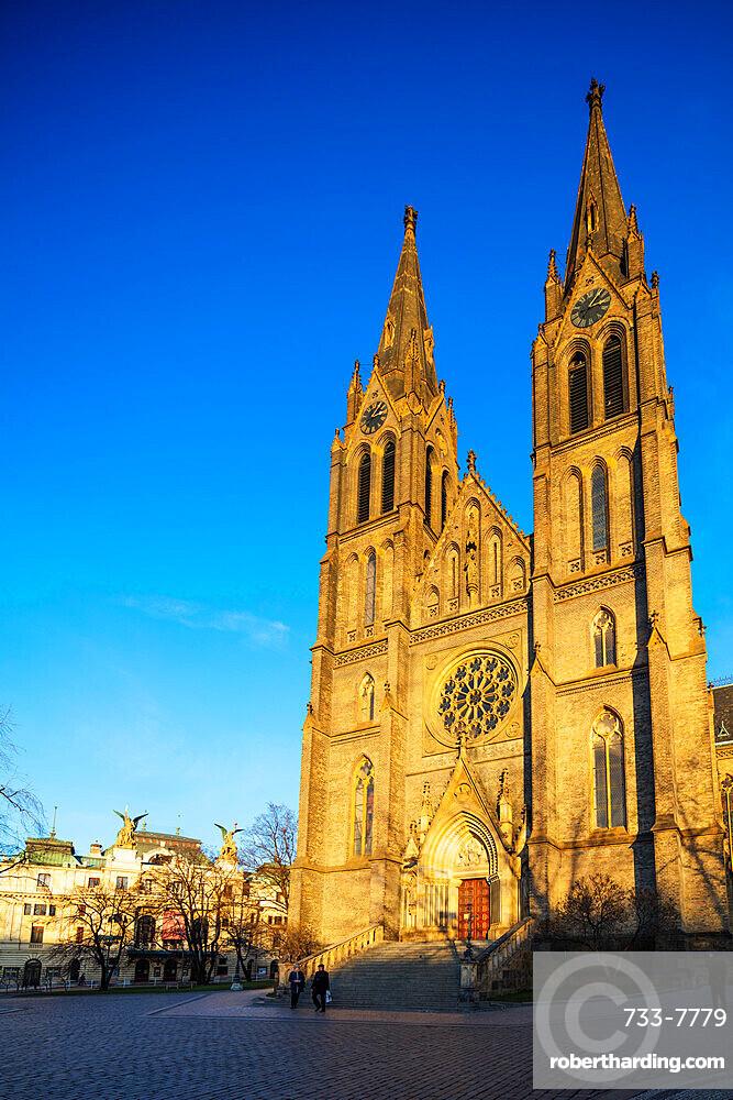 Church of Saint Ludmila, Prague, Czech Republic, Europe