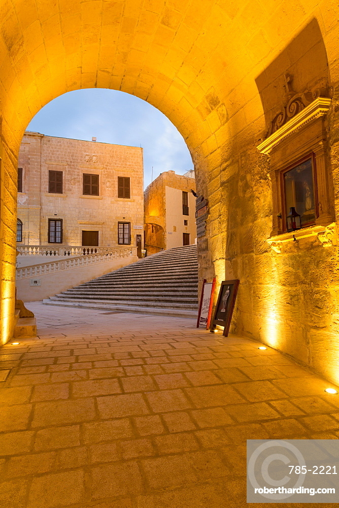 The ancient citadel of Victoria (Rabat) in the heart of Gozo, Malta, Mediterranean, Europe