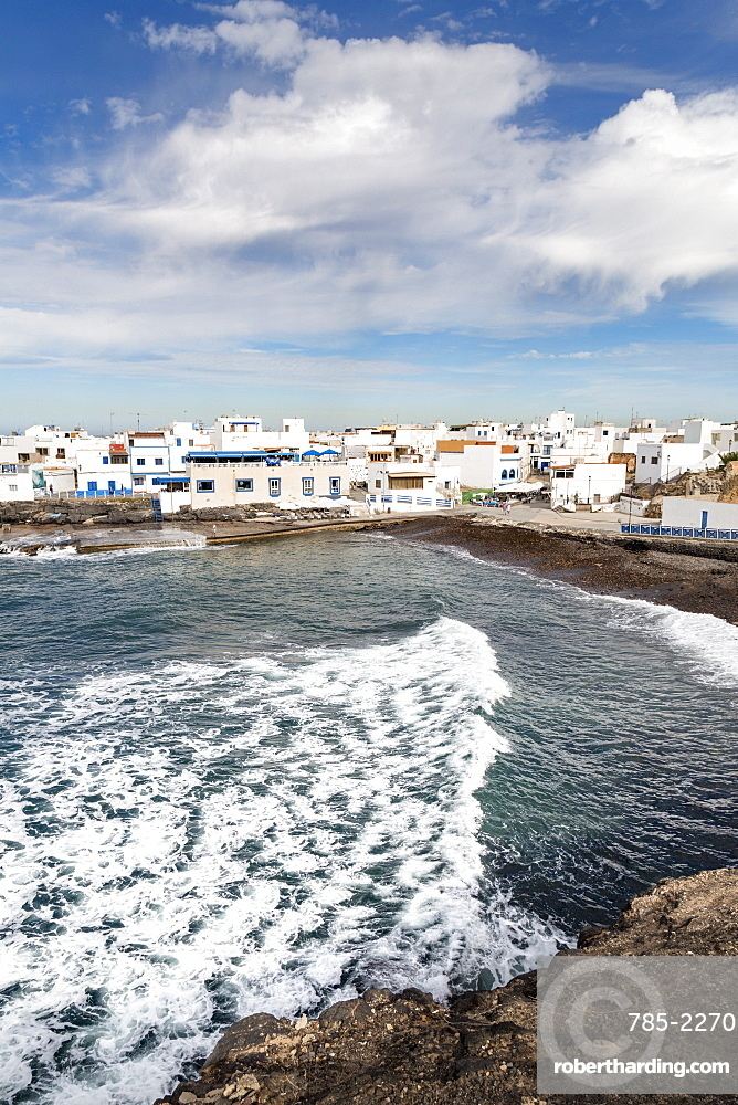 The old town of El Cotillo on the volcanic island of Fuerteventura, Canary Islands, Spain, Atlantic, Europe