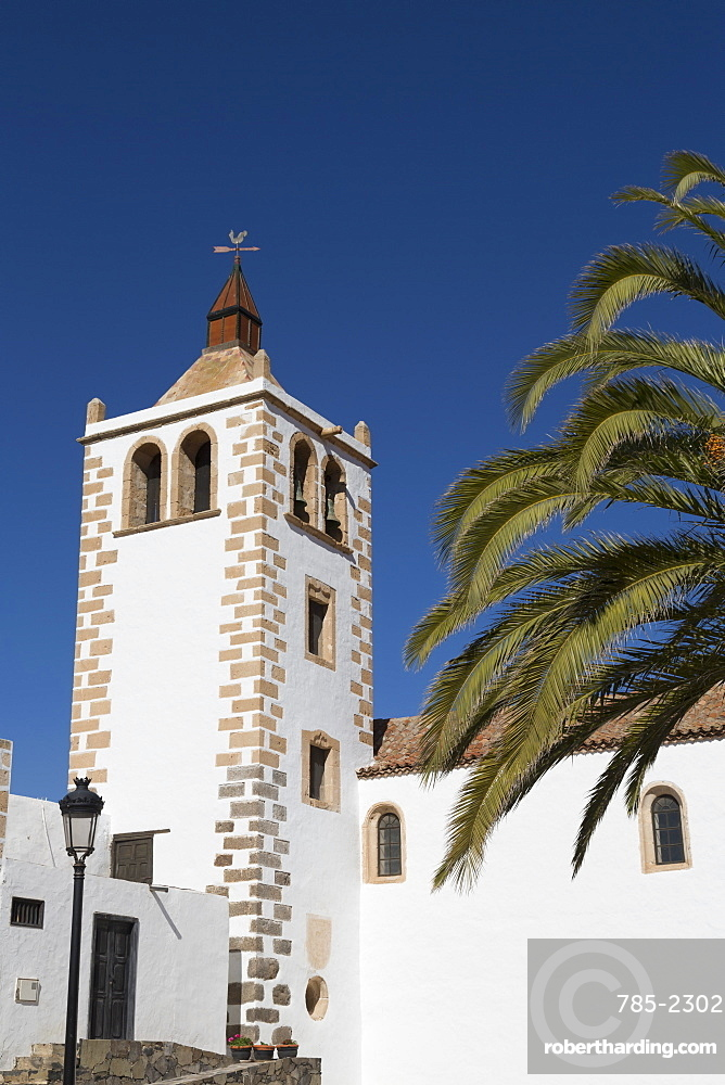 Church of Santa Maria in the small town of Betancuria on the volcanic island of Fuerteventura, Canary Islands, Spain, Atlantic, Europe