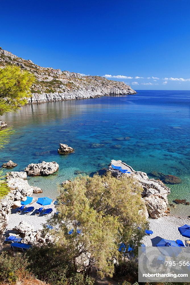 Beach at Rhodes Island, Dodecanese, Greek Islands, Greece, Europe