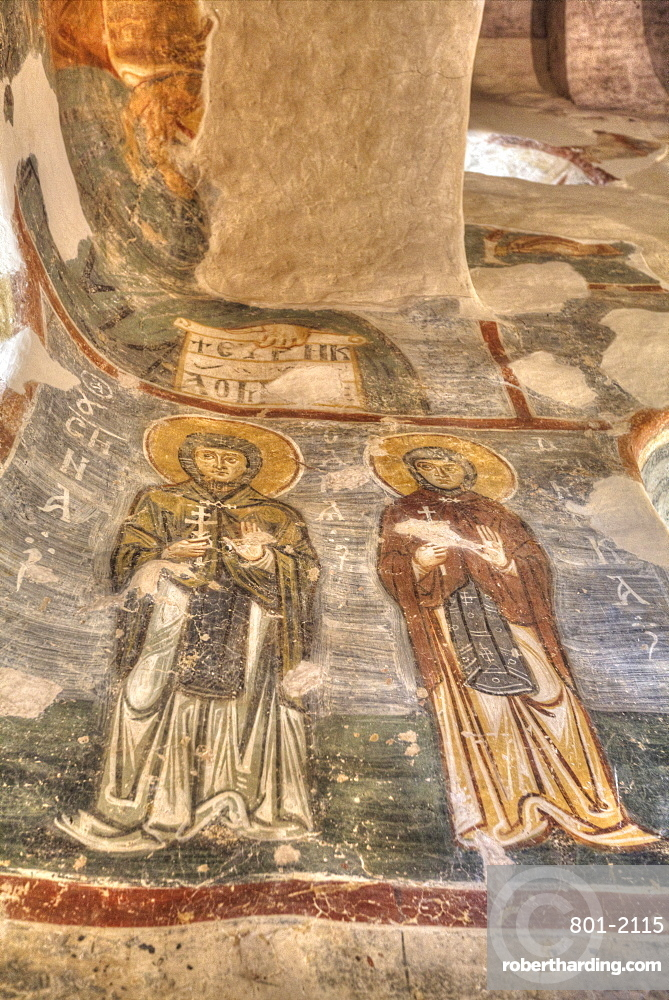 Frescoes, Church of Nereditsa, UNESCO World Heritage Site, Veliky Novgorod, Novgorod Oblast, Russia, Europe