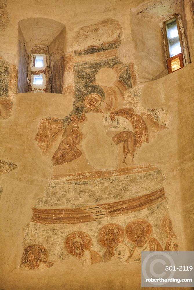 Frescoes, Church of St. Theodore Stratilates, dating from 1360, UNESCO World Heritage Site, Veliky Novgorod, Novgorod Oblast, Russia, Europe