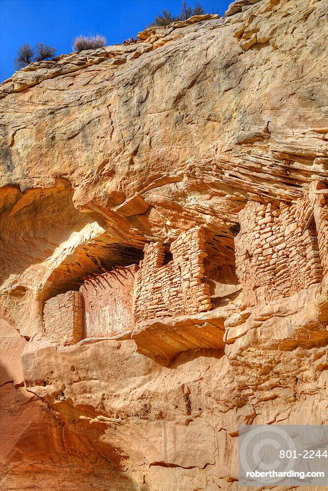 Target Ruins, Ancestral Pueblo, up to 1000 years old, Coomb Ridge area, Utah, United States of America, North America