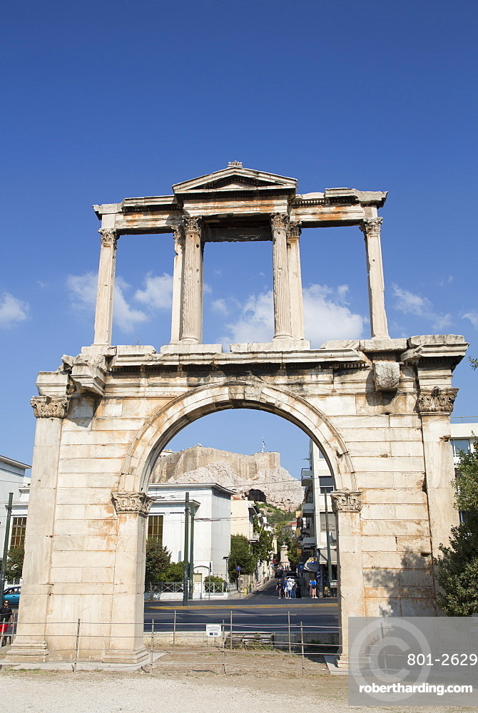 Arch of Hadrian, Athens, Greece, Europe