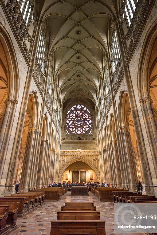 St. Vitus Cathedral, Prague Castle, Mala Strana, UNESCO World Heritage Site, Prague, Czech Republic, Europe