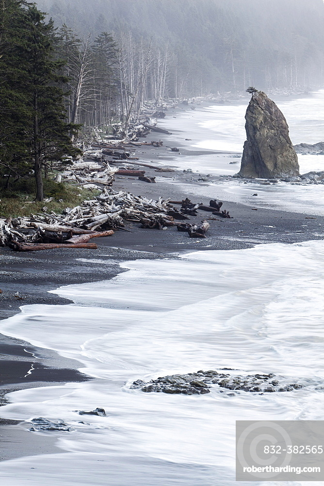 Rialto Beach in Olympic National Park, La Push, Washington, United States, North America