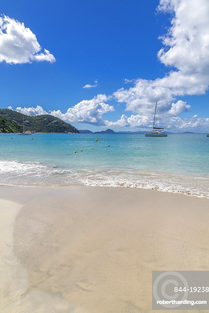 View of Cane Garden Bay Beach, Tortola, British Virgin Islands, West Indies, Caribbean, Central America
