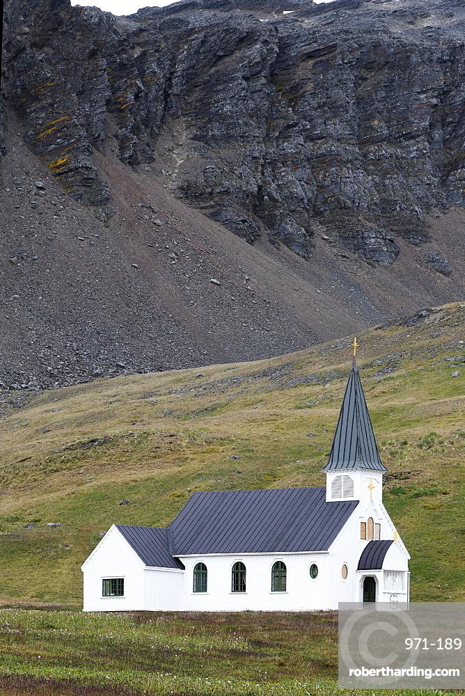 Whaler's church in Grytviken, South Georgia
