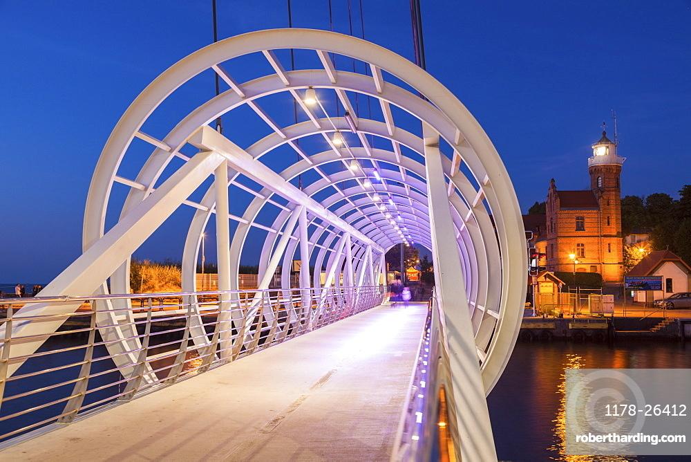 Pedestrian bridge in Ustka, Poland