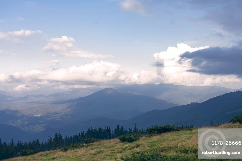 Mountains in the Carpathian Mountain Range, Ukraine