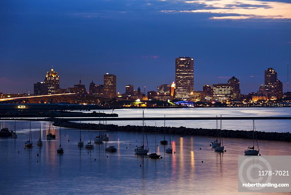 Milwaukee at sunset