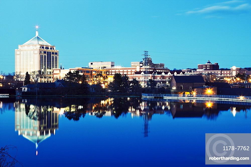 USA, Wisconsin, Wausau, Evening skyline