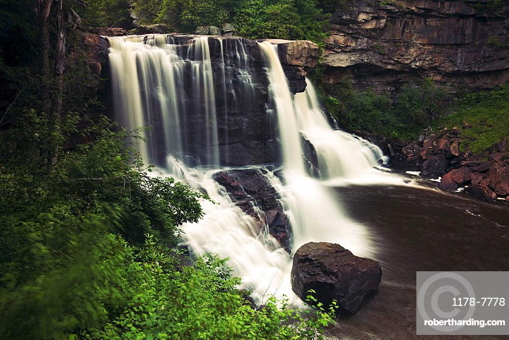 USA, West Virginia, Blackwater Falls State Park, Scenic view of Blackwater Falls