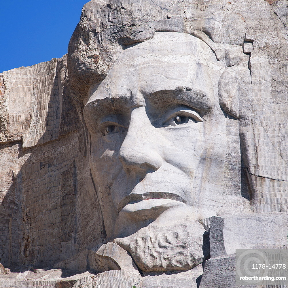 Head of Lincoln on Mount Rushmore