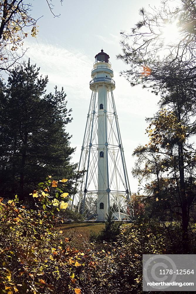 USA, Wisconsin, Rawley Point Lighthouse