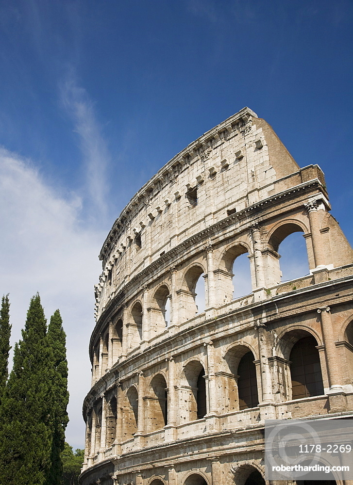 Low angle view of the Colosseum, Italy