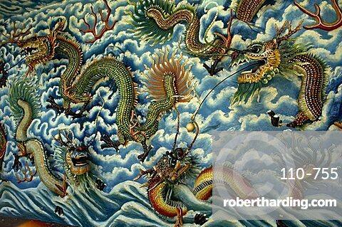 3-D fresco, Tiger Balm Gardens, Singapore, Southeast Asia, Asia