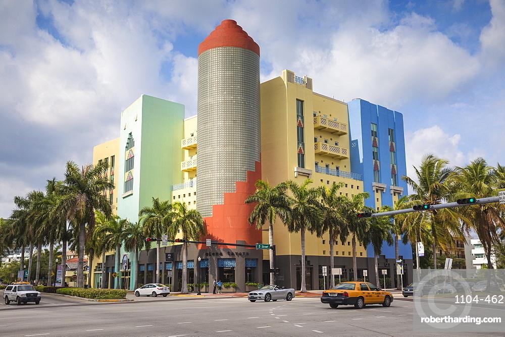 Buildings On Washington Avenue South Beach Miami Florida United