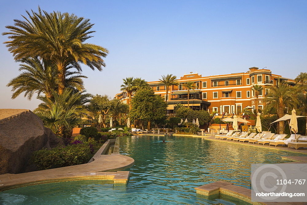 Swimming pool at Sofitel Legend Old Cataract Hotel, Aswan, Upper Egypt, Egypt, North Africa, Africa