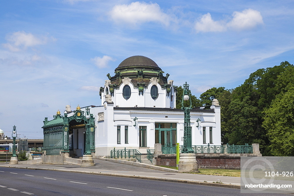 Otto Wagner's Imperial Court Pavilion at Hietzing station, Vienna, Austria, Europe