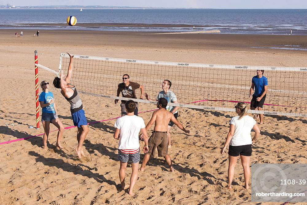 Beach volleyball, Swansea, Wales, UK
