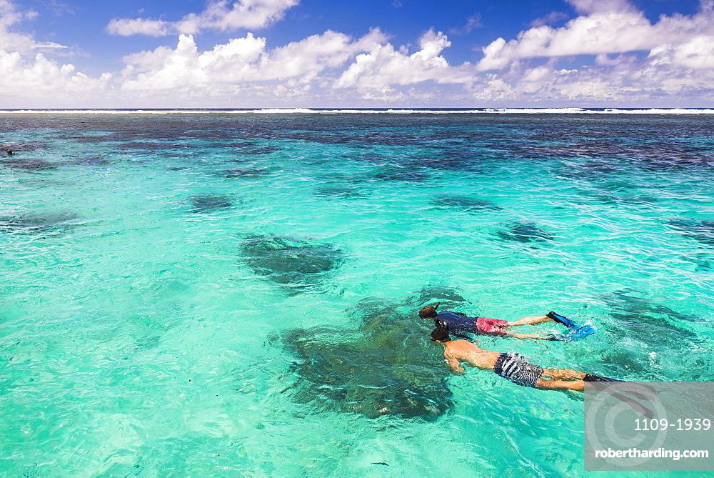 Snorkeling in Muri Lagoon on Captain Tama's Lagoon Cruises, Rarotonga, Cook Islands, South Pacific, Pacific