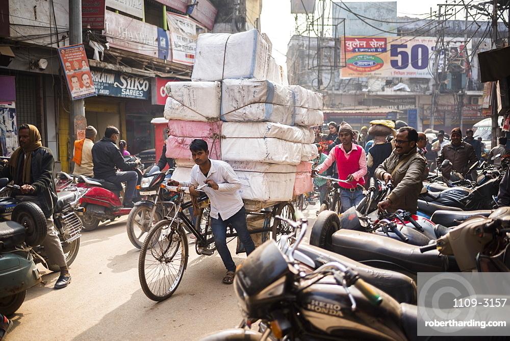 Street scene in Varanasi, Uttar Pradesh, India