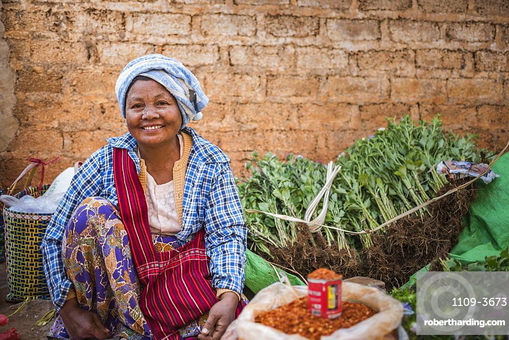 Pindaya food market, Shan State, Myanmar (Burma)