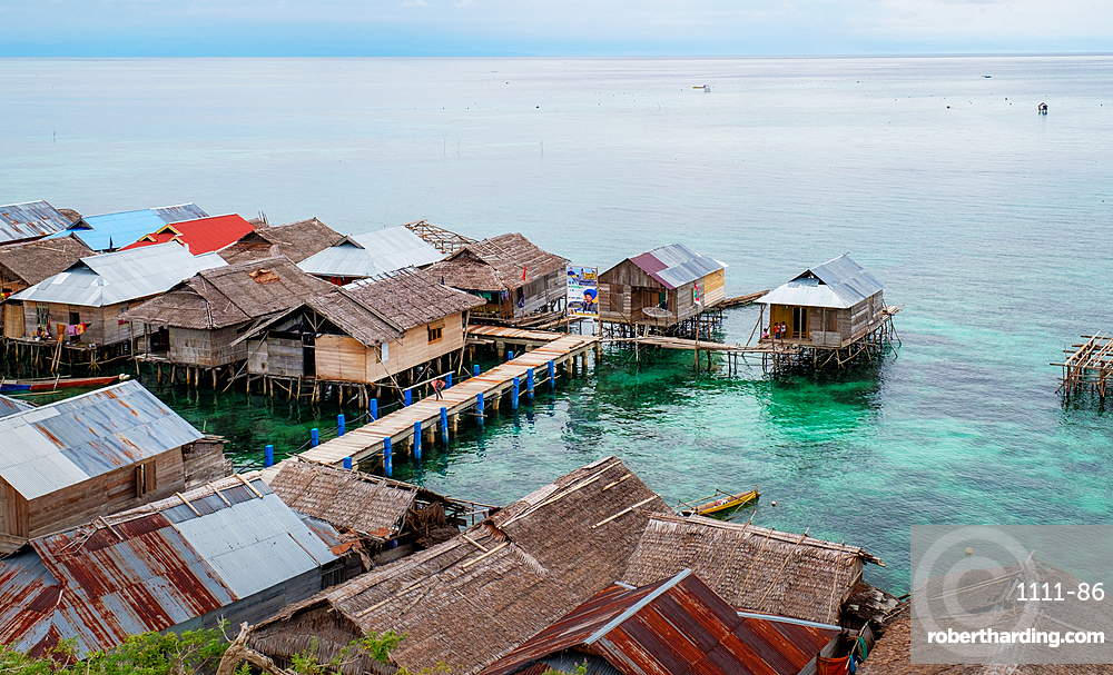 Kabalutan Sea Gypsy village, Togian Islands, Indonesia, Southeast Asia, Asia