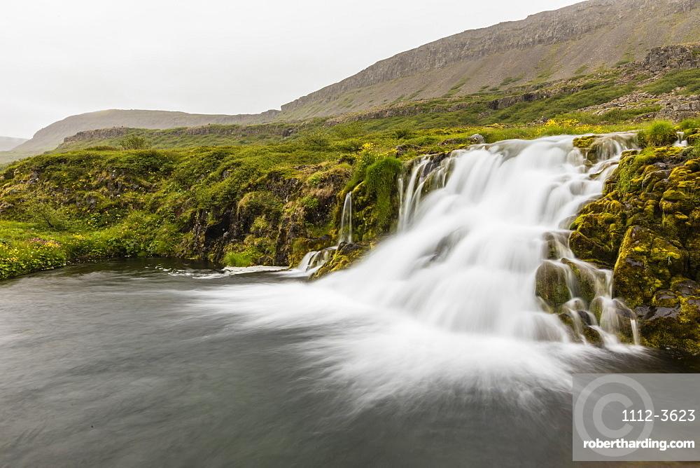 Dynjandi, Fjallfoss, is a series of waterfalls located in the Westfjords, Vestfirðir, Iceland.