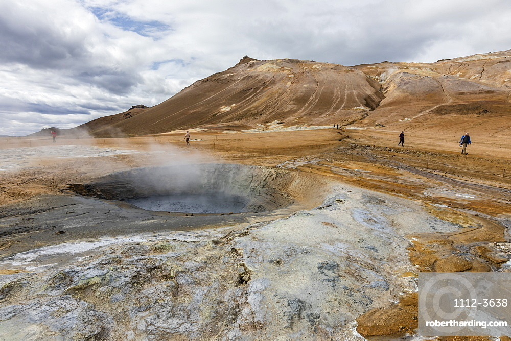 Hverarönd mud pots, steam vents, and sulphur deposits on the north coast of Iceland.