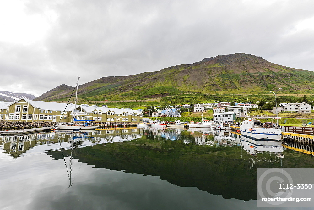The herring capital of the world, Siglufjorour, Siglufjordur, off the north coast of Iceland, Polar Regions