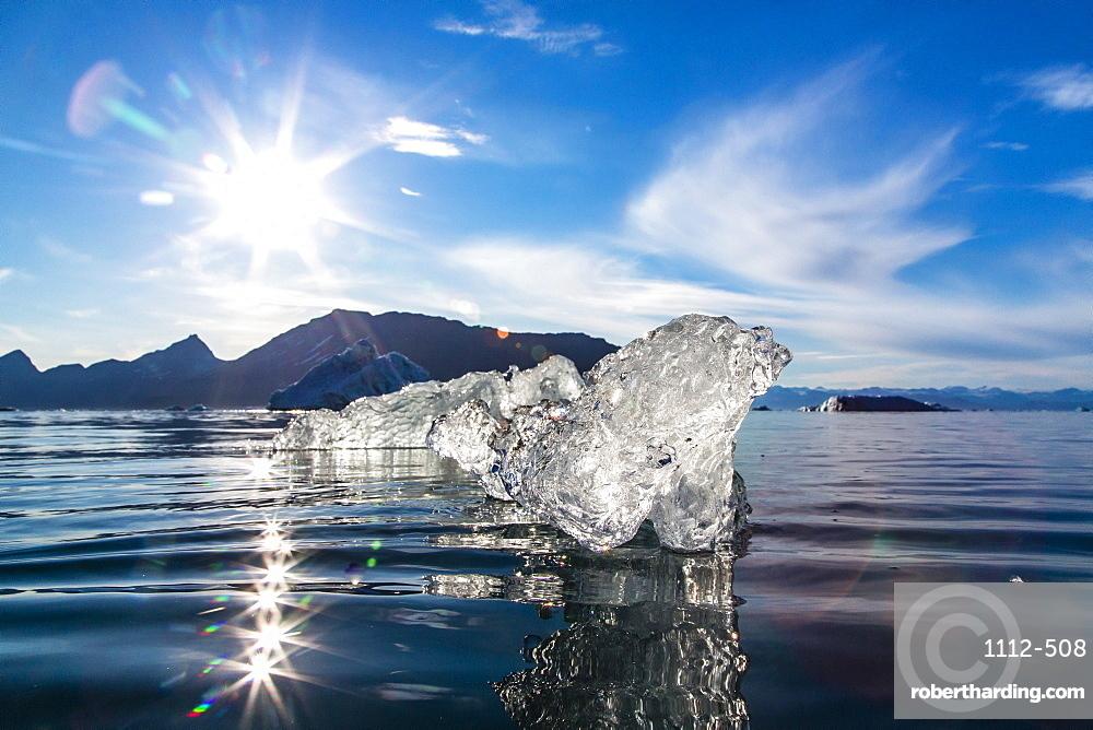 Floating ice, Vikingbukta (Viking Bay), Scoresbysund, Northeast Greenland, Polar Regions