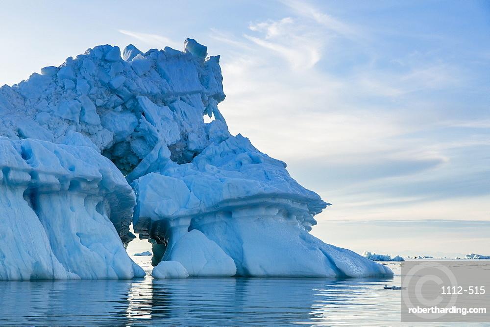 Iceberg, Vikingbukta (Viking Bay), Scoresbysund, Northeast Greenland, Polar Regions