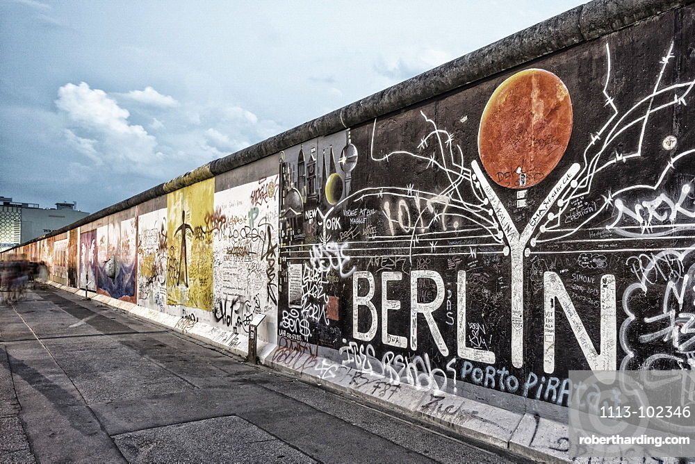 Berlin wall mural east side stock photo for Berlin wall mural