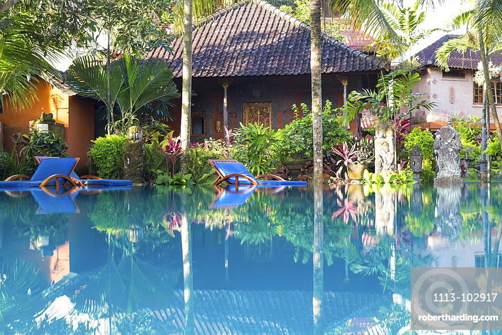 Hotel complex with swimming pool, Ubud, Gianyar, Bali, Indonesia