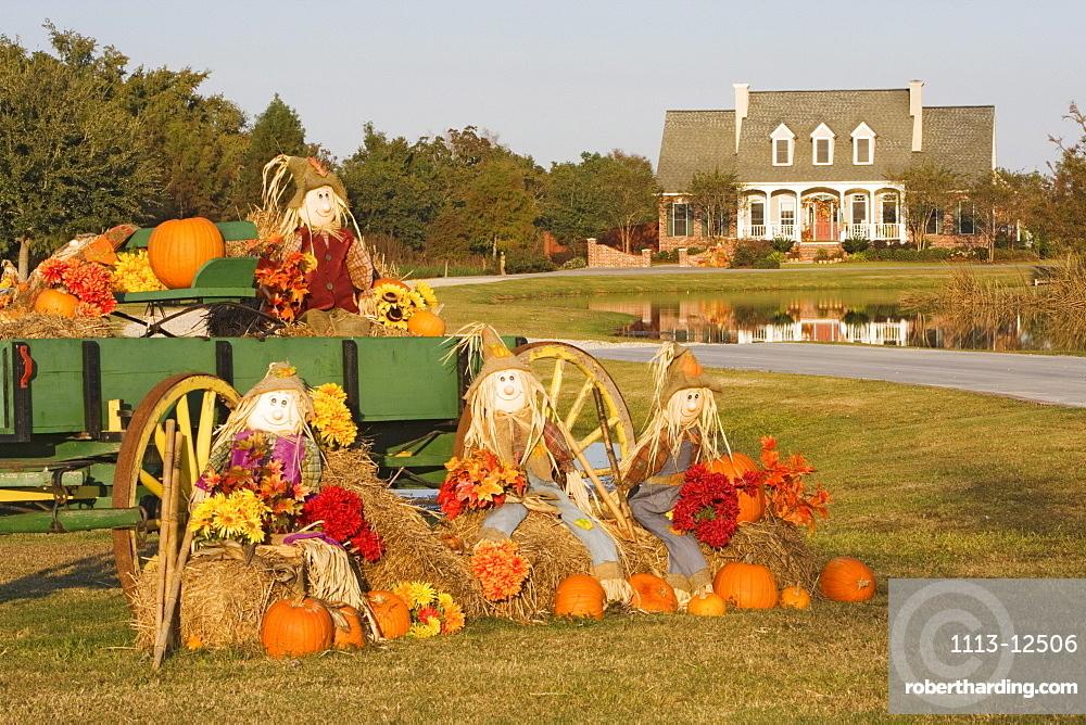 Halloween decorations in Louisiana, USA