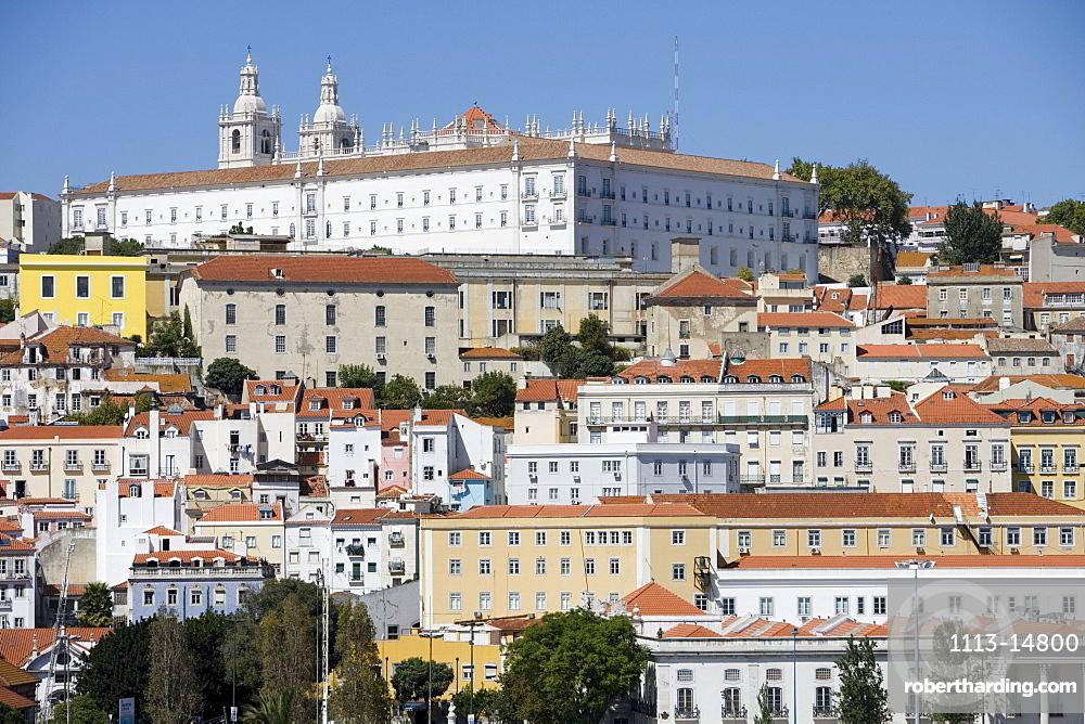 Buildings in the Alfama District, Lisbon, Lisboa, Portugal, Europe