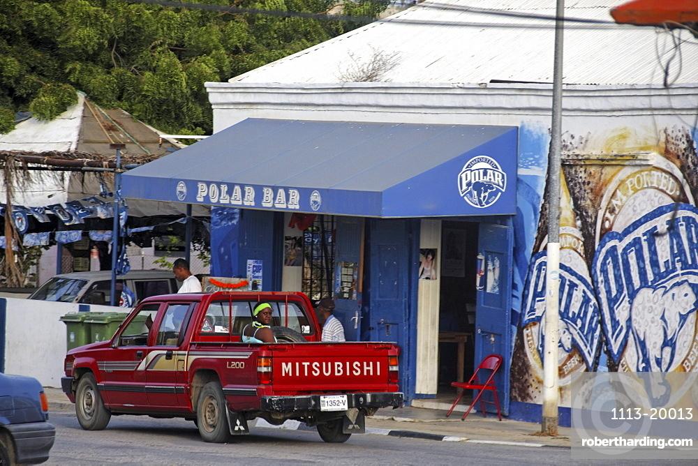 West Indies, Bonaire, Rincon, Polar Bar, people