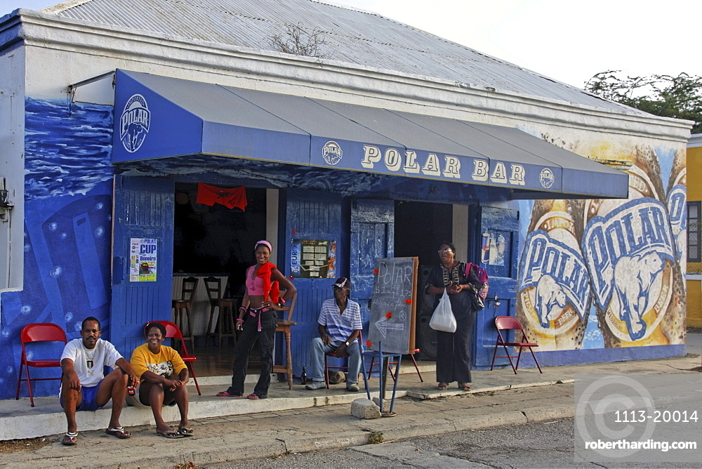 West Indies, Bonaire, Rincon, Polar Bar, people