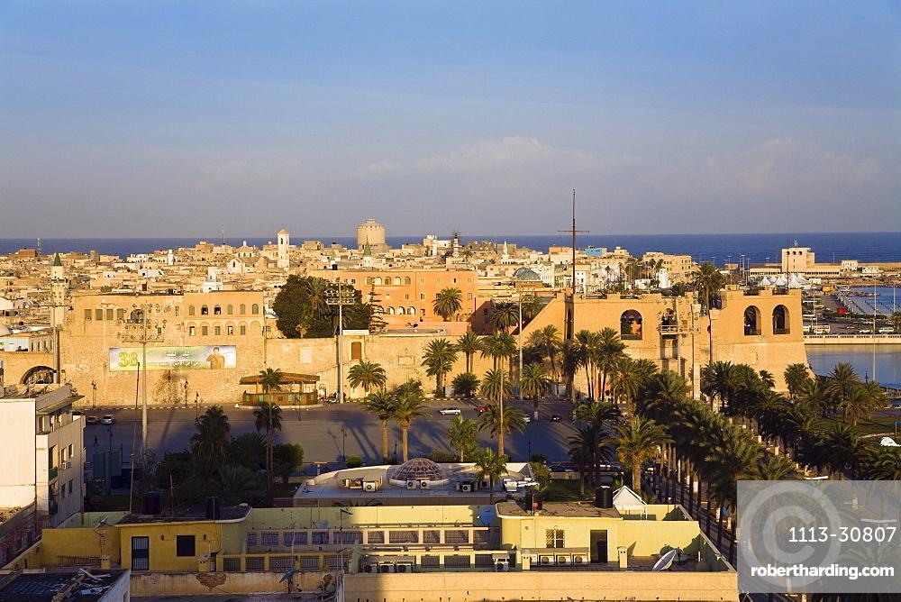 Skyline of Tripoli with National Museum, Libya, Africa