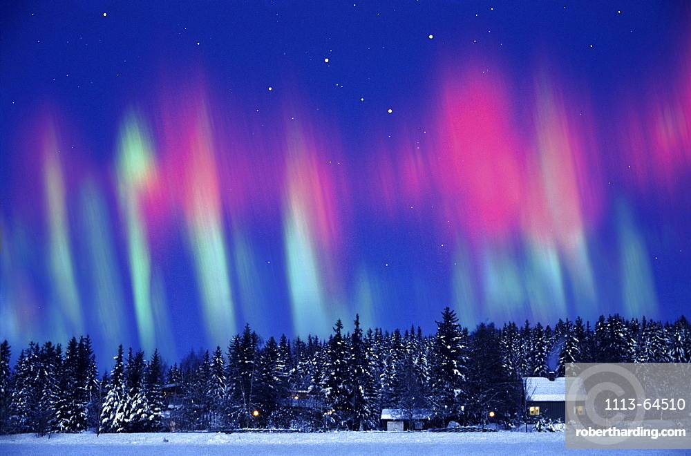 Aurora borealis, Northern Norway, Kautokeino, Lappland, Norway