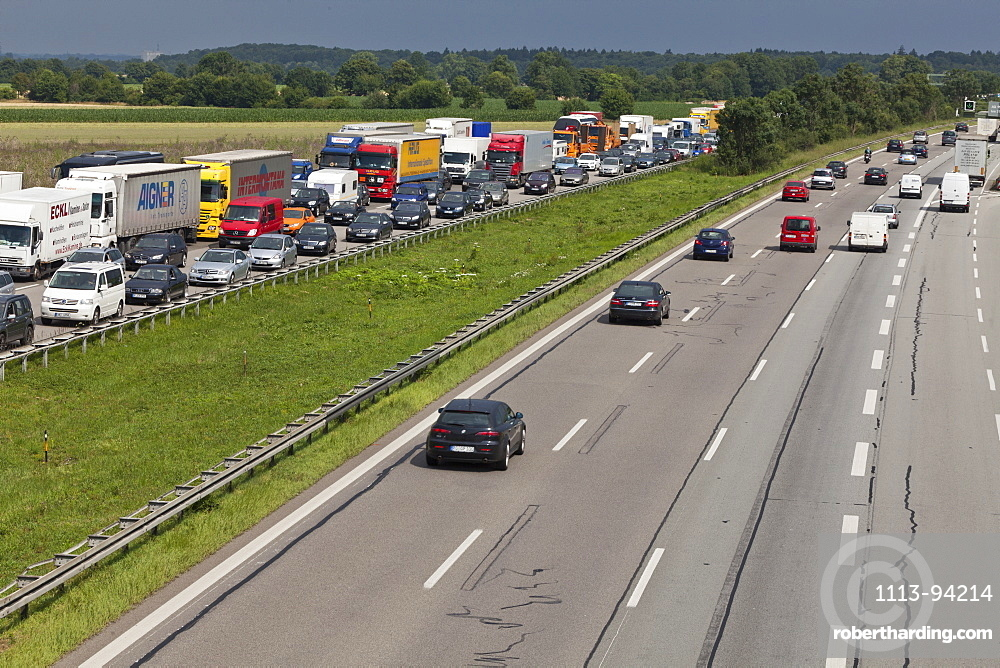 Traffic at a standstill on | Stock Photo